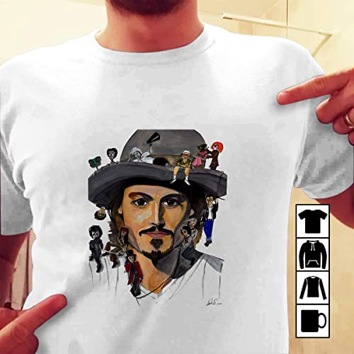 ce84f9e1 Amazon.com: Edward Scissorhands Johnny Depp Movie Halloween T-shirt:  Handmade