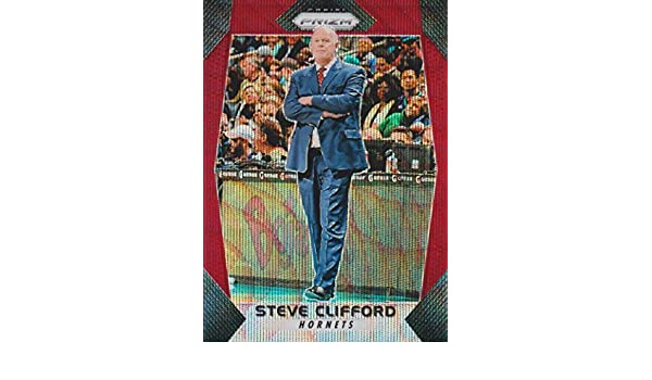 2017-18 Panini Prizm Basketball Prizms Ruby Wave #240 Steve Clifford Charlotte Hornets at Amazons Sports Collectibles Store