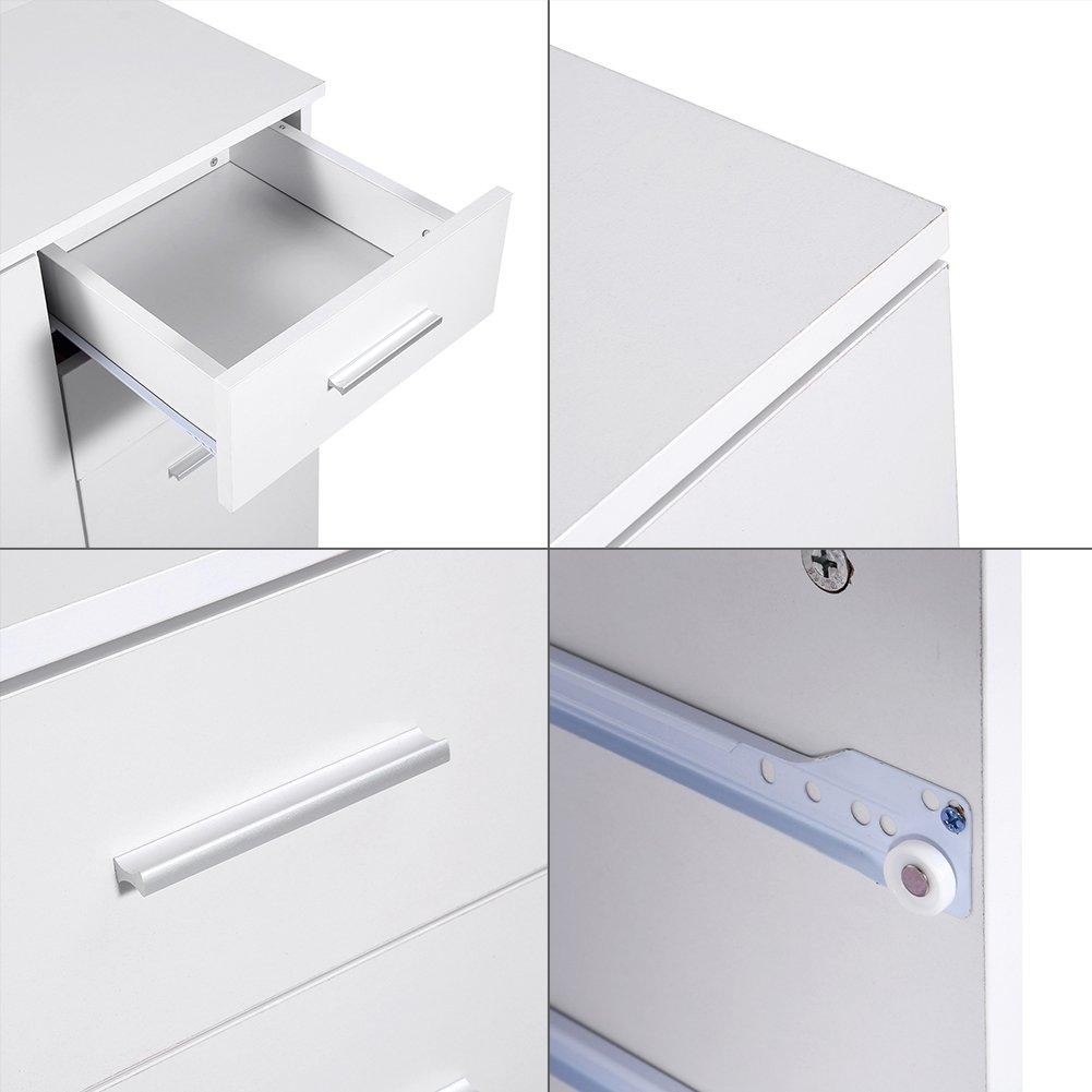 in Legno con 2/cassetti e 2/Ante GOTOTOP Bianco Bagno organizzato vetrinetta sottolavello 73.5/x 66/x 33/cm