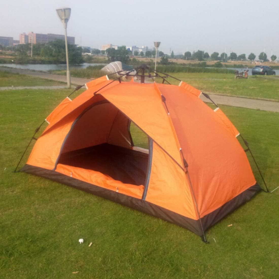 Fepelasi Wildes Camping für 3 und 4 Personen automatisches Zelt (Farbe : Orange)