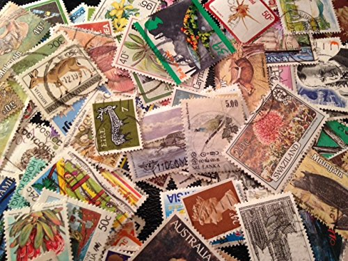 Stamp Collection 100+ Different British Commonwealth Stamps Cat Value .25 to $1.00 each Mostly postally used Special Gift in every (Special Order Collection)