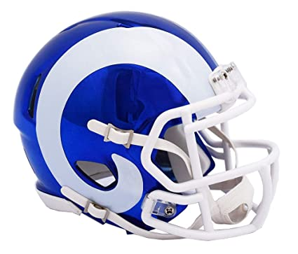 cd6d0c6a2 Image Unavailable. Image not available for. Color  LA Los Angeles Rams -  Chrome Alternate Speed Riddell Mini ...