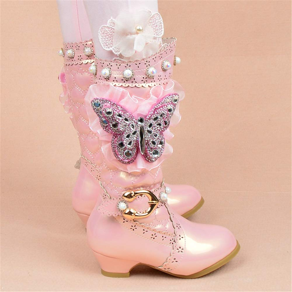 excellent.c Sweet Kids Boots Girls Cute Princess Shoes high Boots Long Boots