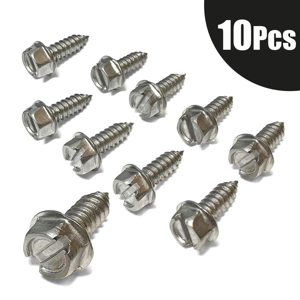 Stainless Steel Fasteners for Fastening License Plates AUTOLA License Plate Screws Replace The Standard Metal Screws Frames and Covers on Domestic Cars and Trucks White