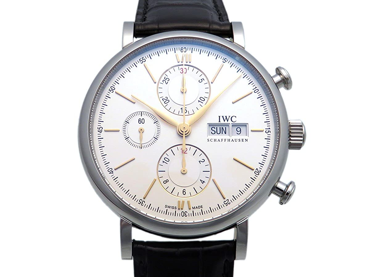 アイダブリュシー ポートフィノ クロノグラフ IW391022 シルバー メンズ 腕時計 [並行輸入品] B01N4L5ATW