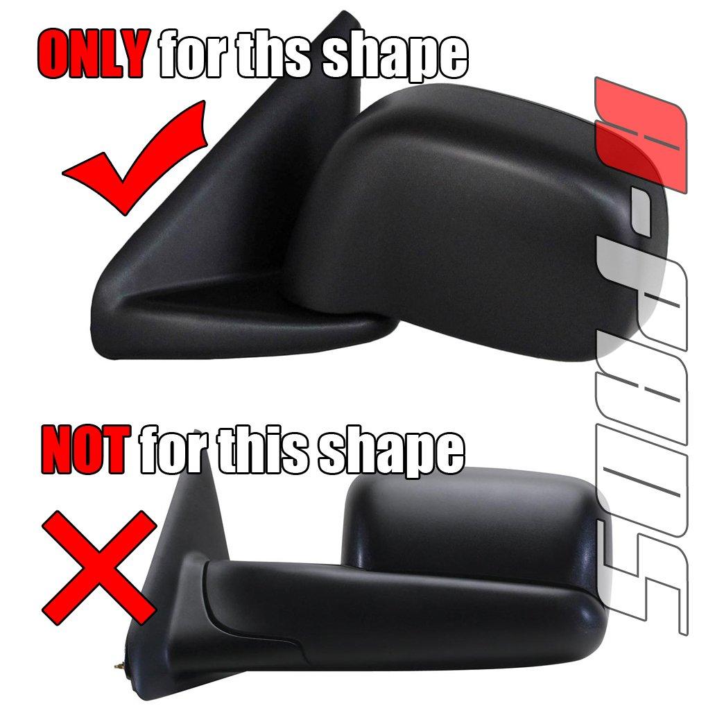 A-PADS Chrome Mirror Covers For Dodge RAM 1500 2002-2008 /& RAM 2500HD 3500HD 2003-2009 PAIR Full Mirrors USA
