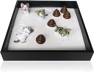 Mini Zen Garden Kitty Cat Litter Box Sand for Meditation and Relaxation