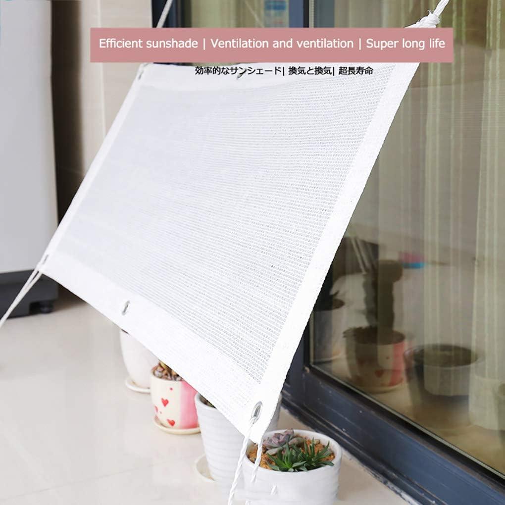 Shade net Rete ombreggiante da Esterno Bianco,80/% Resistente Ai Raggi UV,per Giardino//Pianta//Serra//Esterno//Cortile//Tetto Rete da Ombra per Cortile