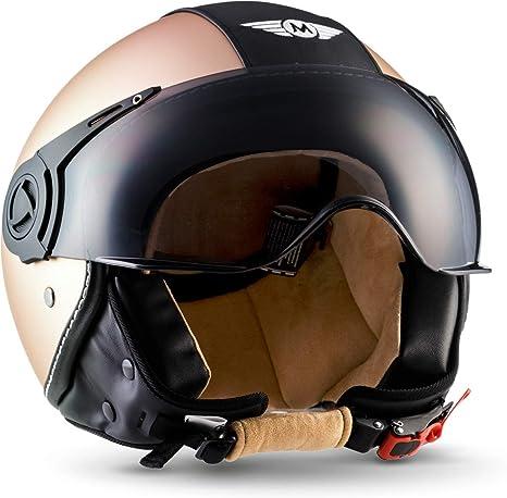 53 XS visiera ECE XL Camouflage H44 62 cm, Moto Helmets/® vintage Casco jet da moto a sgancio rapido