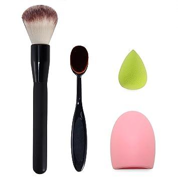 sponge brush makeup. makeup brush set, oval foundation brush, sponge egg blender, glove makeup makeup v