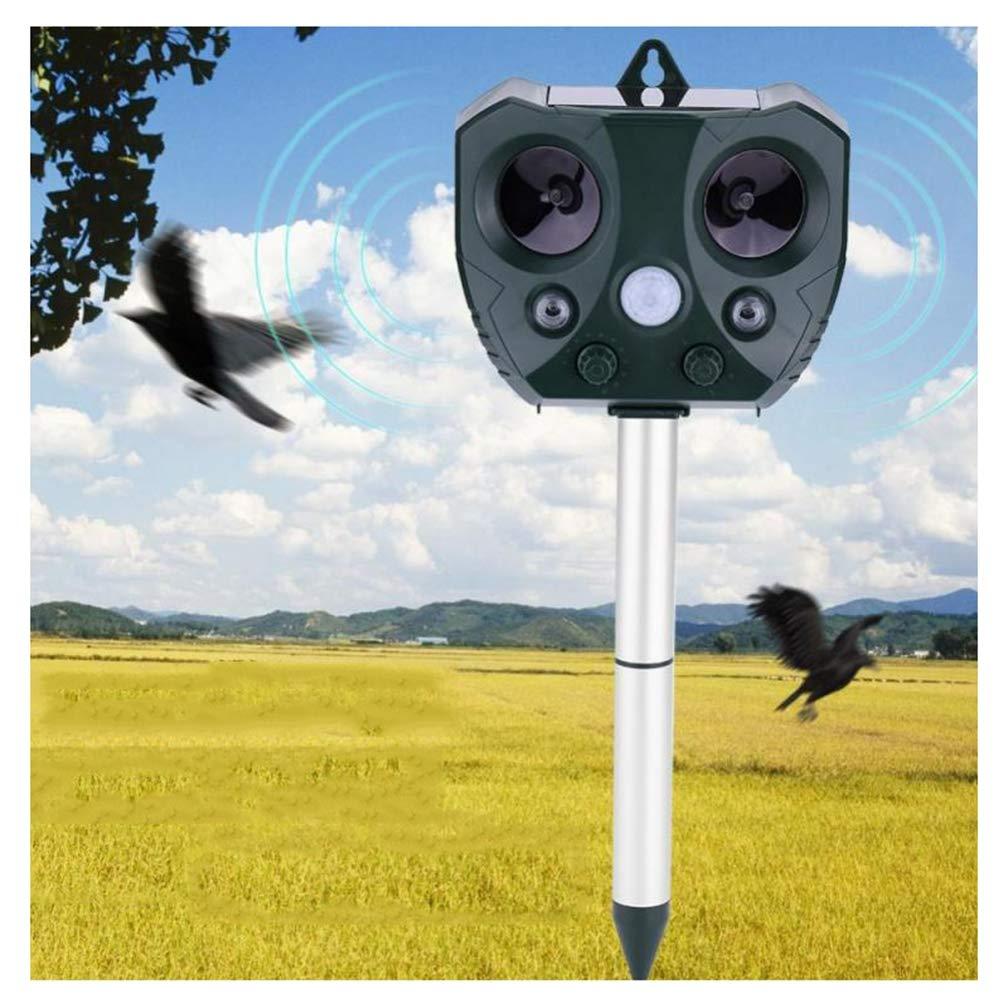 All'aperto solare parassiti Repeller ultrasuoni, Animale Pest Repeller Mouse sensore giardino per uccello, gatto, cane, volpe, repellente per tenere lontani gli animali