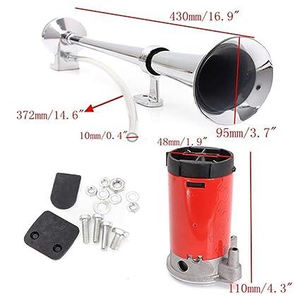 GGO Bocina de Aire de 12 V, Trompeta Individual + Compresor de bocina de Aire