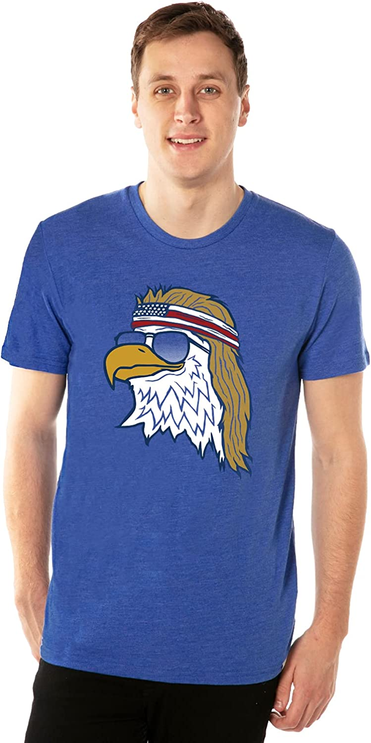 Funny Men's Animal Themed Patriotic Graphic Tees for 4th of July and Summer: Clothing