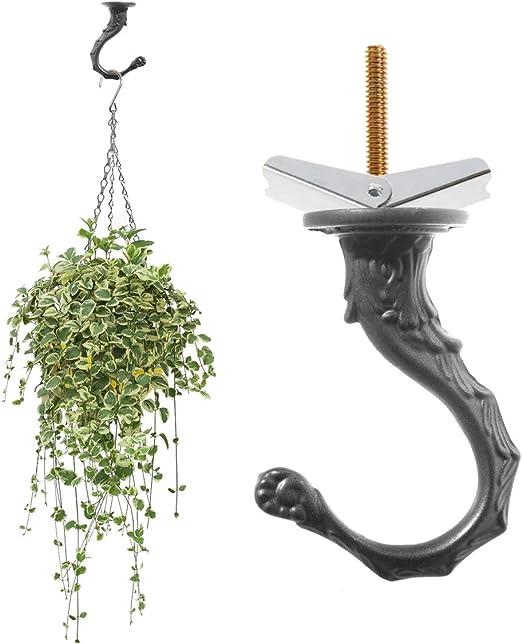 ganchos para decoraci/ón bronce 15 unidades ganchos de pared ganchos para plantas Kyrio Ganchos de seguridad resistentes al viento para colgar en el techo ganchos de jard/ín