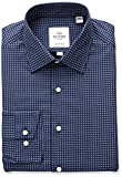 Ben Sherman Mens Target Print Soho Spread Skinny Fit Dress Shirt