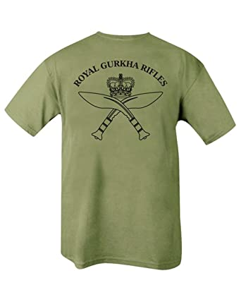 716a67419b Kombat Mens Military Royal Gurkha Rifles T-Shirt: Amazon.co.uk: Clothing