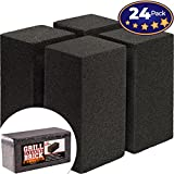 24 flat top grill - Commercial Grade Grill Cleaning Brick Bulk 24 Pack by Avant Grub. Pumice Stone Cleaner Tool Cleans and Sanitizes Restaurant Flat Top Grills or Griddles Effectively Without Harsh Chemicals or Abrasives