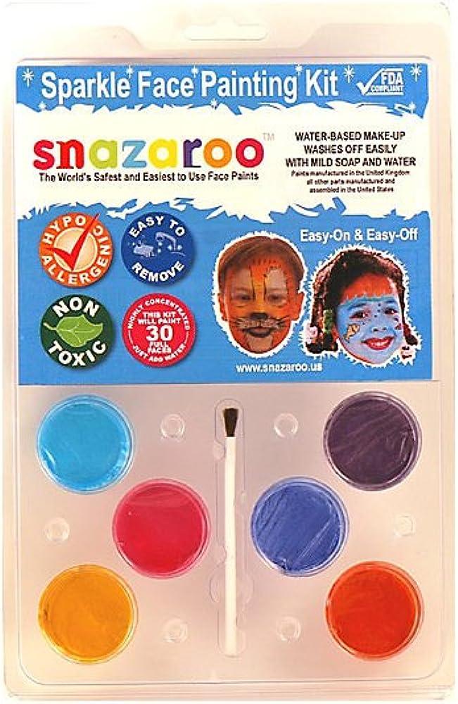 Snazaroo SZPALCLAMSP Almeja Pack - Pintura 6 Color de la chispa de ...