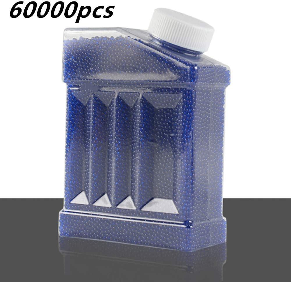 KSIASGDHA Crystal Bullets 60000pcs Pistolas de Agua Pistola Juguetes Bolas de Cultivo Mini Granos Redondos del Suelo