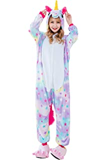 JOXJOZ Kids Unicorn Onesie Pajamas Costume for Halloween Cosplay Christmas  Gift (130(Suggested Height 9b445a1ac