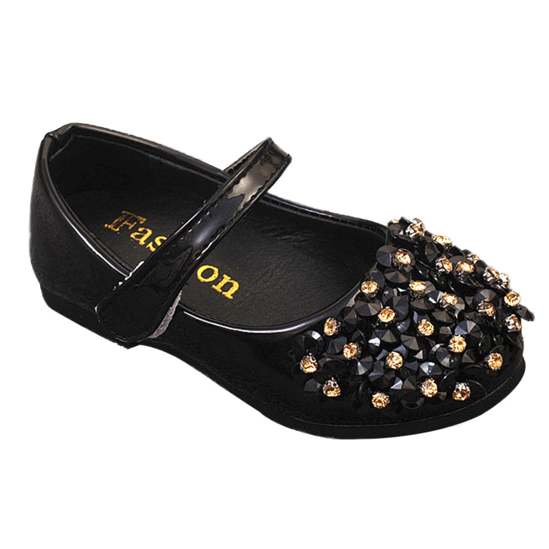 YIBLBOX Kids Girls Cute Ballet Flats Shoes Crystal Mary Janes Wedding Princess Dress Toddler Shoes