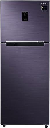 Samsung 394 L 3 Star Frost Free Double Door Refrigerator(RT39M5538UT/TL, Pebble Blue, Convertible)