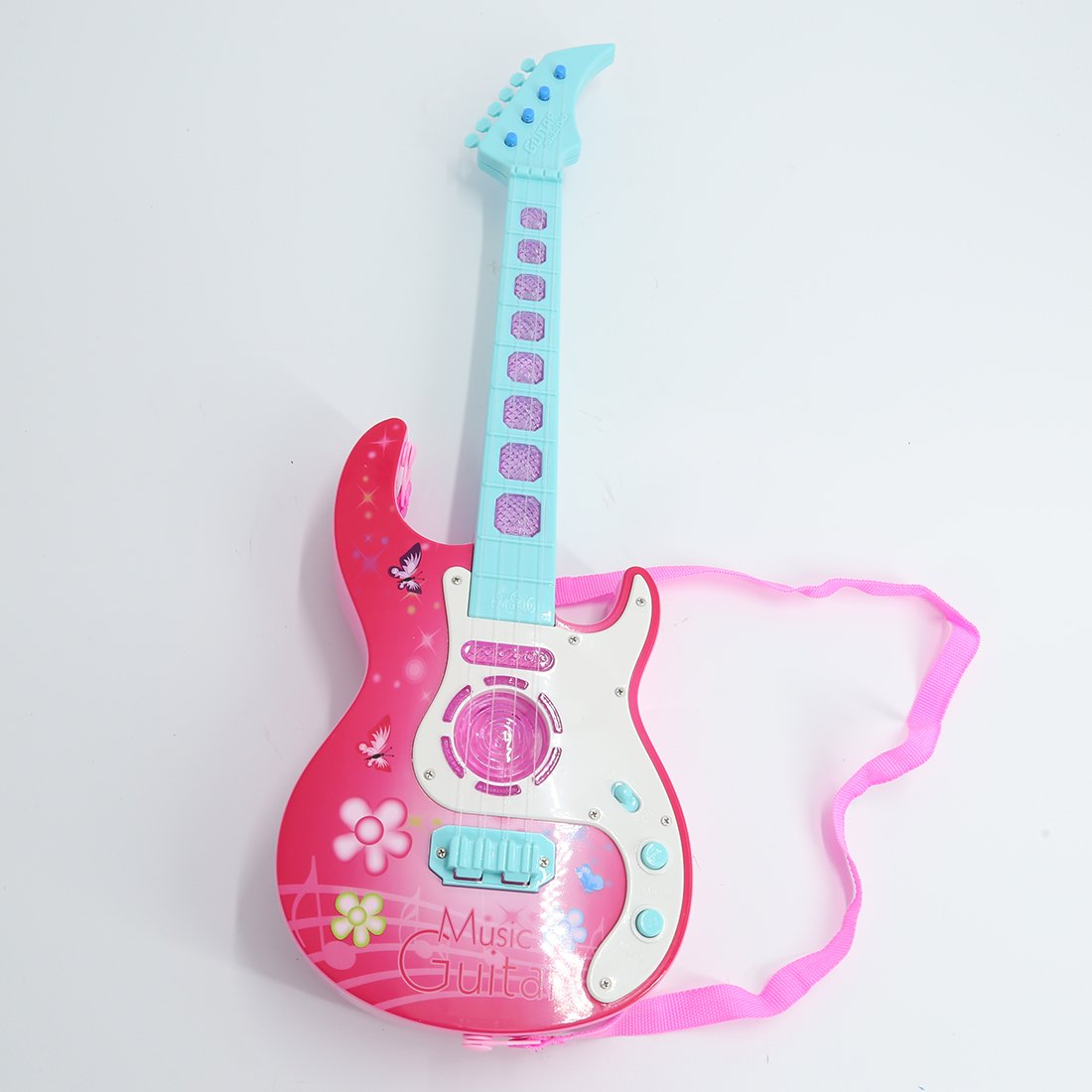 PHYNEDI Guitarra eléctrica Niños, Juguetes Musicales Guitarra con 4 ...