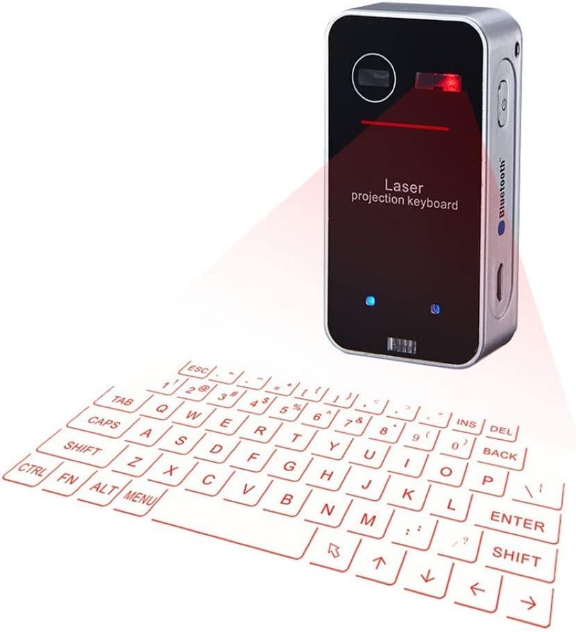XIAOKUKU Portátiles Teclado Virtual inalámbrico Bluetooth ...