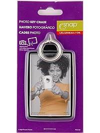 Snap Black Photo Key Ring
