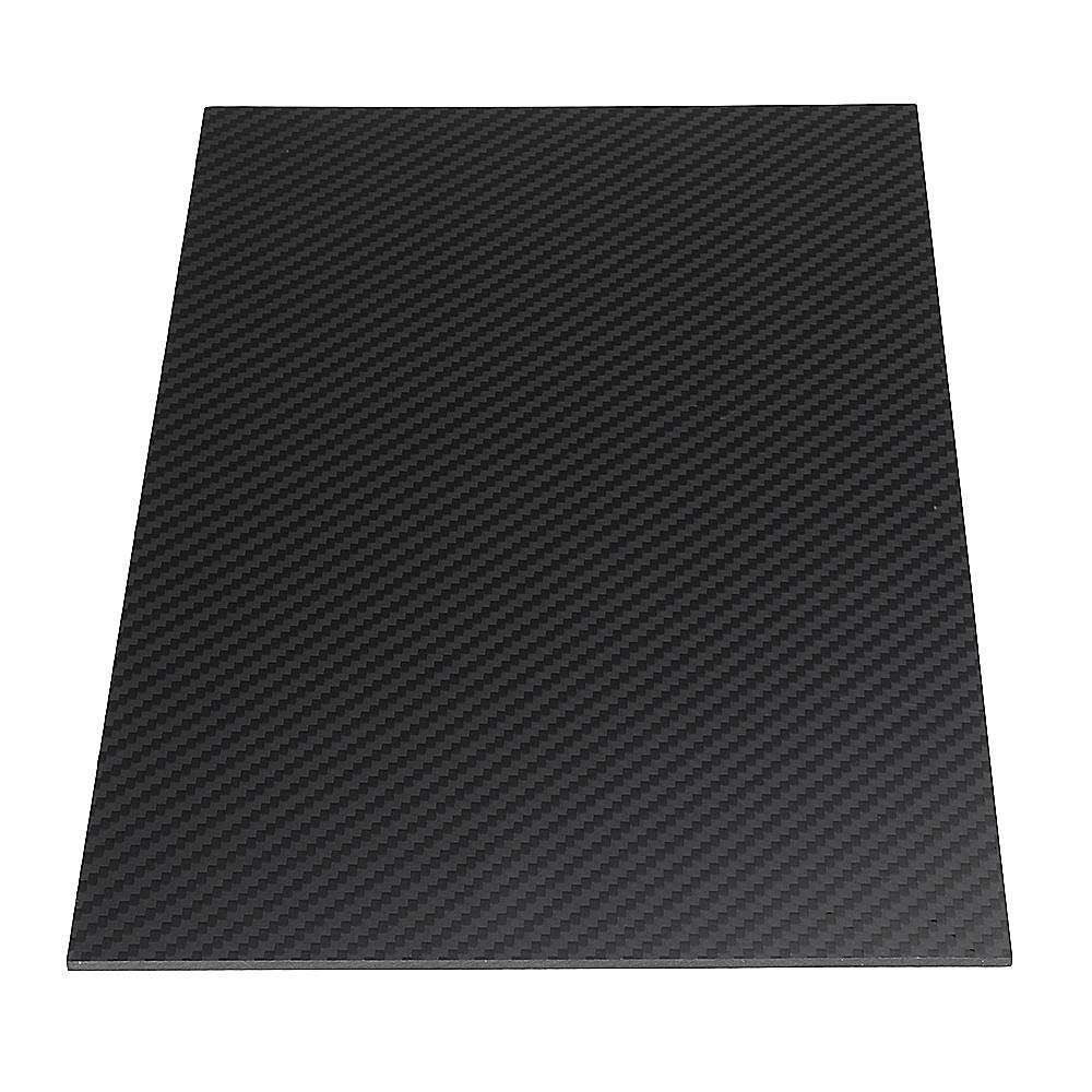 Stock_Home, Raw Materials, 200X300mm 3K Carbon Fiber Board Carbon Fiber Plate Twill Weave Matte Panel Sheet 0.5-5mm Thickness - (Size: 3mm)