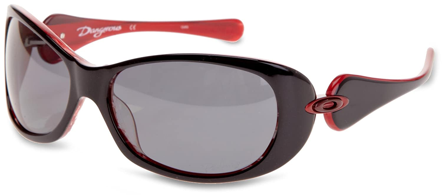 01c8c6e7e2 Oakley Dangerous Women s Sunglasses Black   Red Frame Grey Lens   Amazon.co.uk  Sports   Outdoors