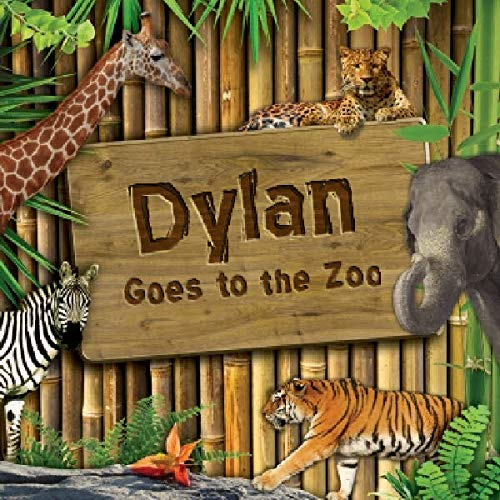 Frecklebox - Personalized Storybook for Dylan - Goes to The Zoo [Hardcover] - Put Your Child in The Story - Great Gifts to Make Kids Smile