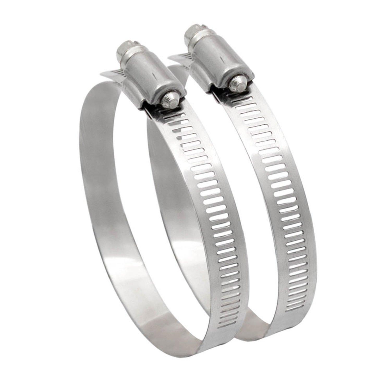 Metal Hose Clip 150mm Diameter Ducting Clamp for Flexible Hose Pipe Tube 2 Pcs HiveNets