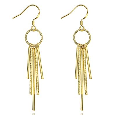 84cf3b984 Image Unavailable. Image not available for. Color: Unique Long Linear Tassel  Drop Dangle Earrings ...