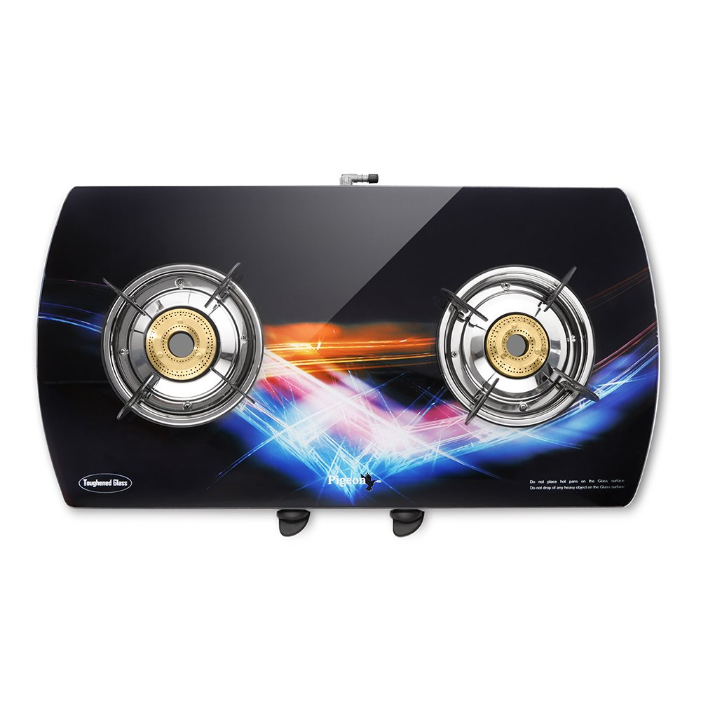 Pigeon Spark Series Oval Glitter Full Size Two Burner Gas Stove