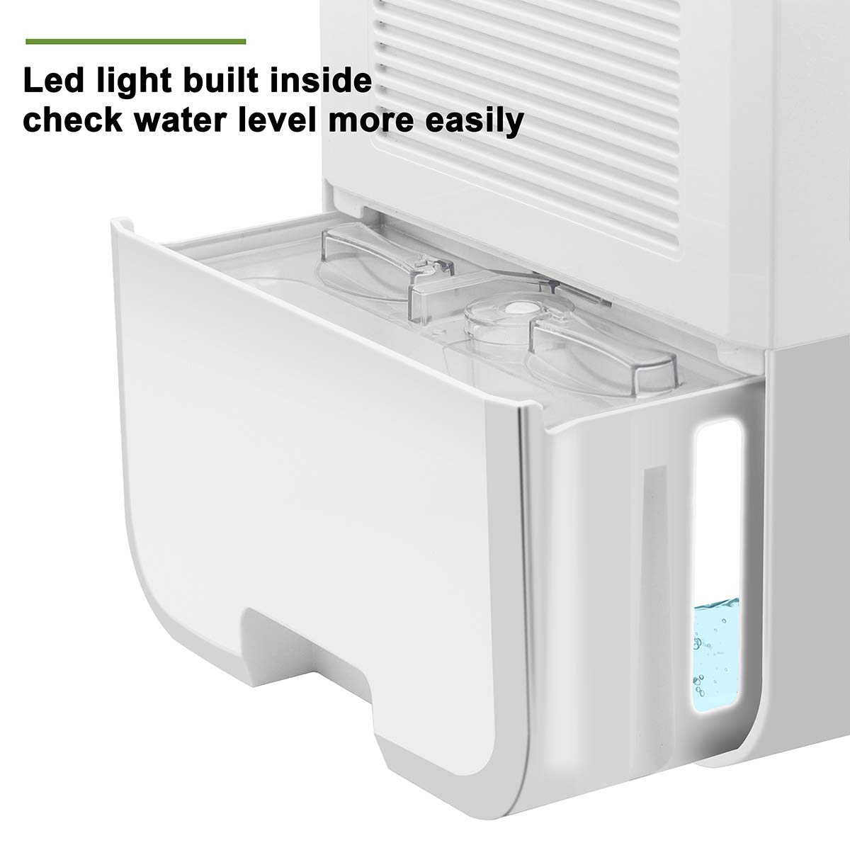 Dehumidifier Electric Mini Dehumidifiers for Home Basements Bathroom Bedroom Closet Wardrobe RV 2200 Cubic Feet 269 sq.ft Large 2L Tank Smart Control Dehumidifier