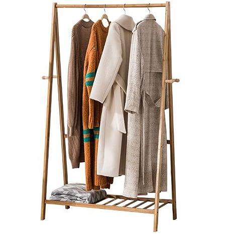 Axdwfd Percheros Perchero, soporte de bambú para el suelo ...