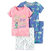 Carter's Baby Girls 4-Piece Neon Pajamas (18 Months)