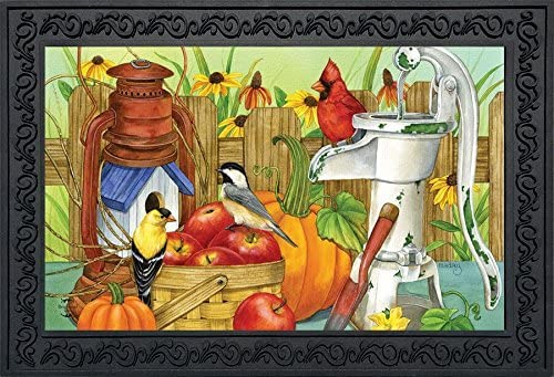 Briarwood Lane Autumn Display Birds Doormat Waterpump Apples Cardinal Indoor Outdoor 18 x 30