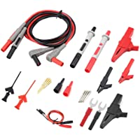 Electronic Test Leads Kit P1300D Digital Multimeter with Crocodile Clips Replaceable Test Leads Probe Tips Set