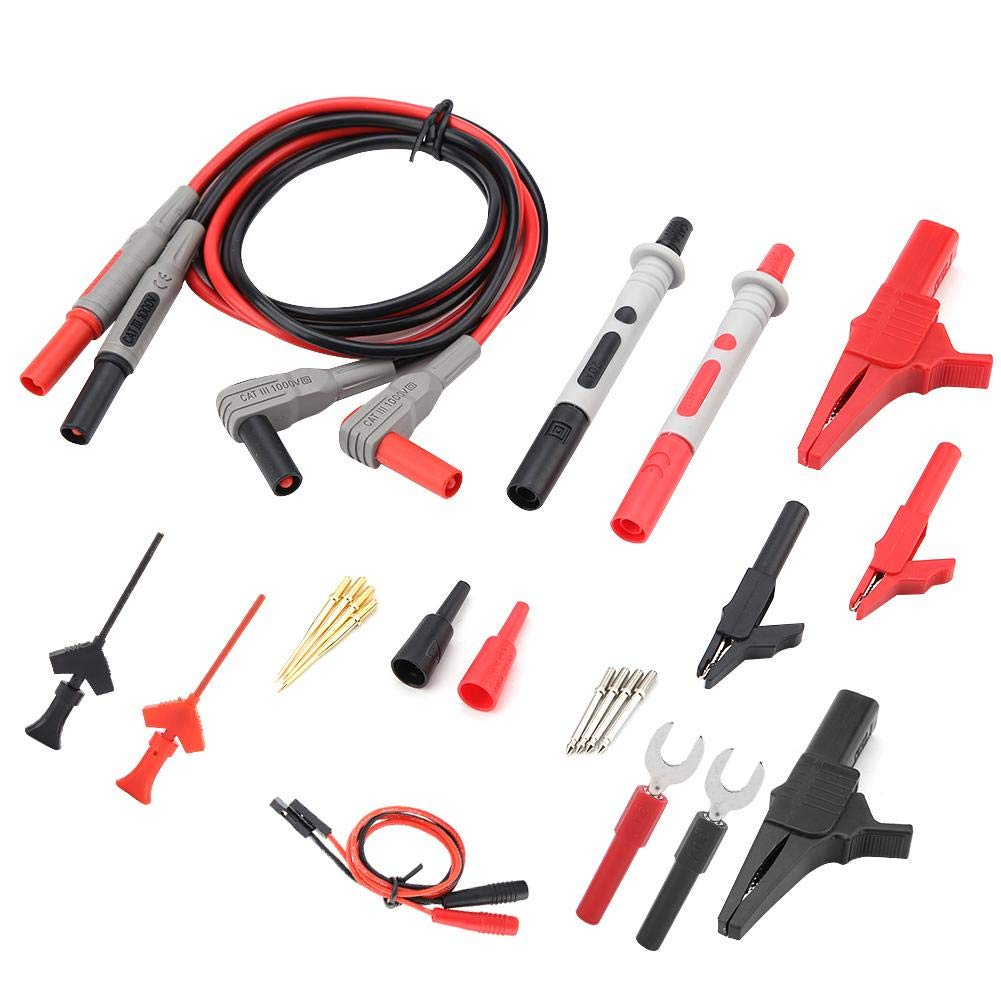 High Accuarcy Digital Multimeter Probes Test Leads with Crocodile Clips Electronic Replaceable Probe Tips Set P1300D