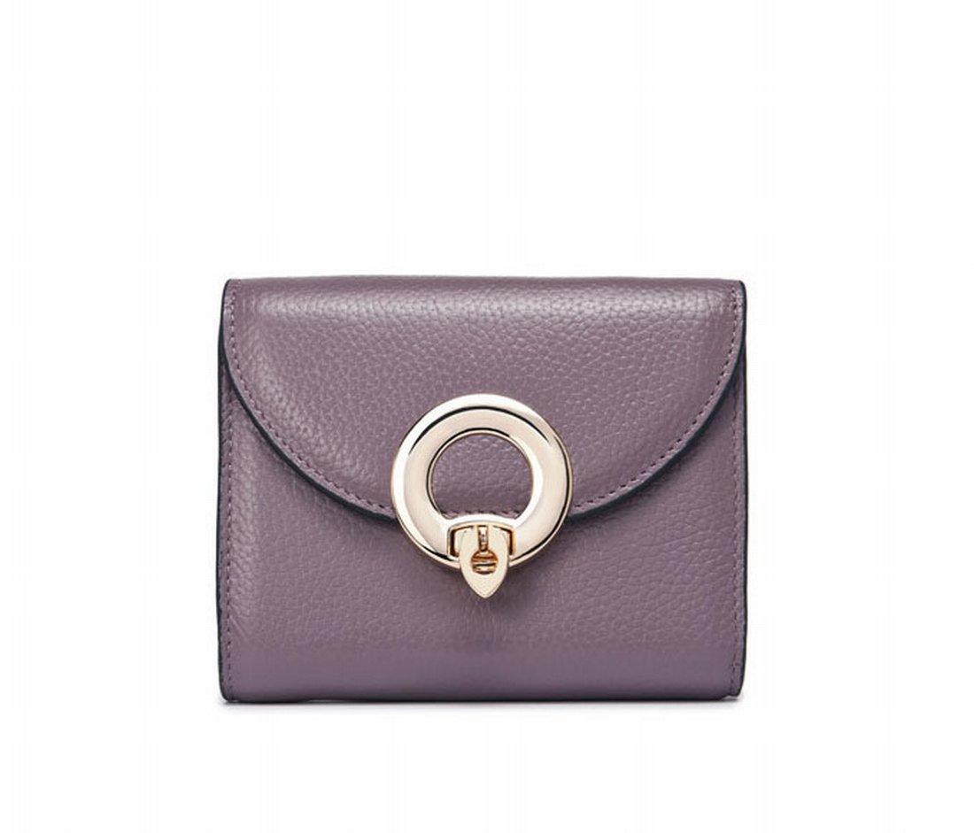 Portemonnaie Damen Metallring Baguette Drei Mal Brieftasche