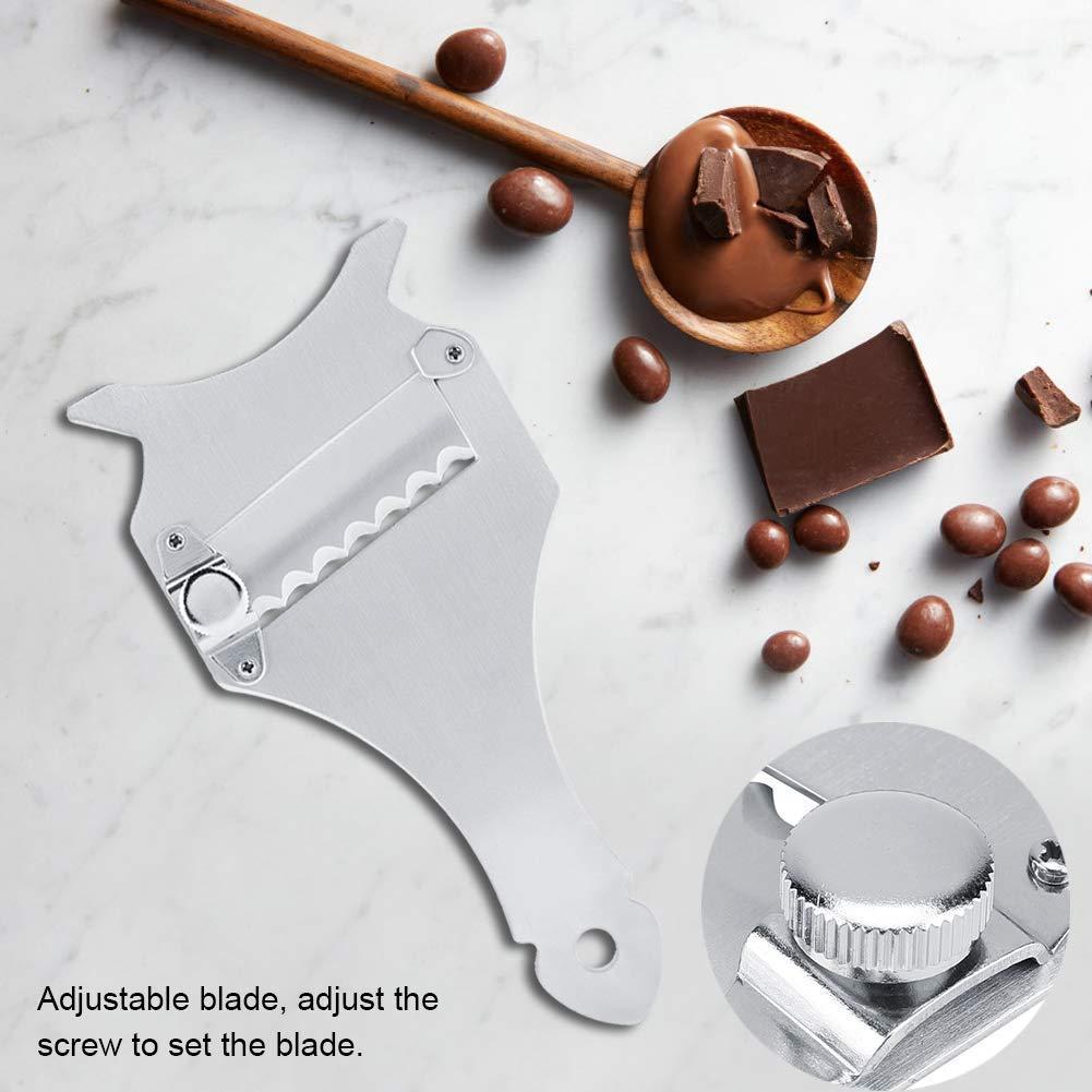 Plateado KAEHA SUN-057-10 Afeitadora de Queso de trufa de Chocolate de Acero Inoxidable Ajustable Cuchillo Afilado Cortador de Vegetales Utensilio de Cocina