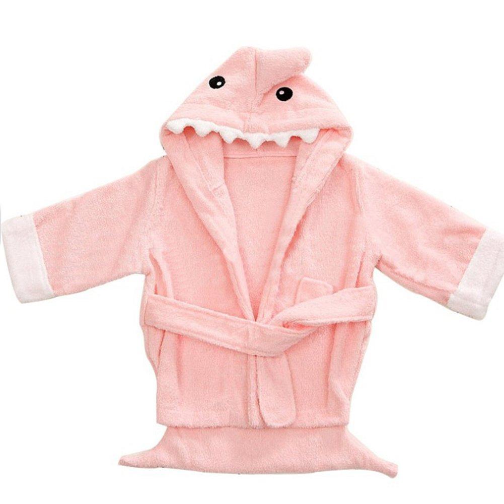 Baby Animal Bathrobe Infant Hooded Dressing Gown Bathrobe Absorbent Cartoon Nightwear Toddler Newborn Sleepwear for Bath Pool Beach Shower Gift(2-3Y, Pink) MOOUK
