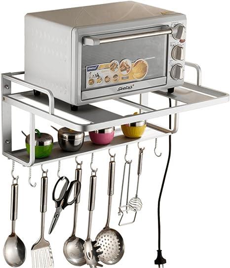 Estanterías para horno microondas, soporte de pared de ...
