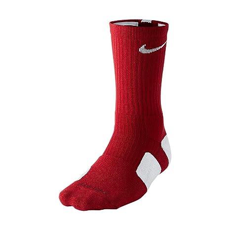 Amazon.com  Nike Elite Cushioned Basketball Socks Red White X-Large ... e0bb23daae70