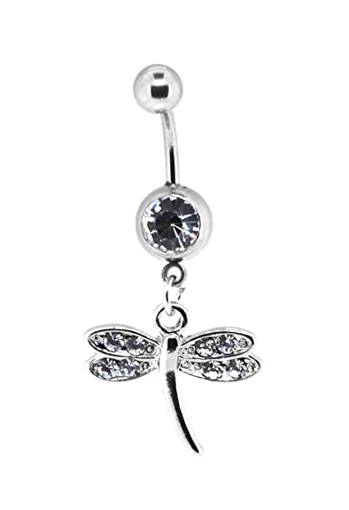 Mandala Crafts Bow Seahorse Cross Dangle Cute Belly Button Ring Body Jewelry For Navel Piercings