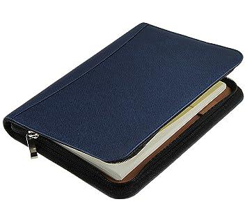 Cuaderno multifunción en espiral Liying, tamaño A5 en polipiel con cremallera alrededor, calendario, calculadora integrada, memo día de la semana, ...