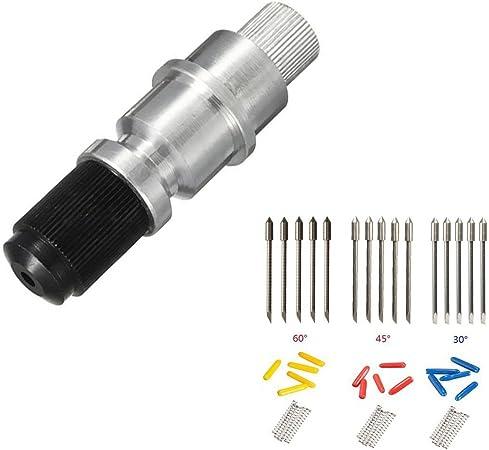 CB09 CB09U Graphtec soporte de hoja con 10 piezas para cortador de vinilo Plotter cuchillas de corte 30/45/60 Grado: Amazon.es: Electrónica