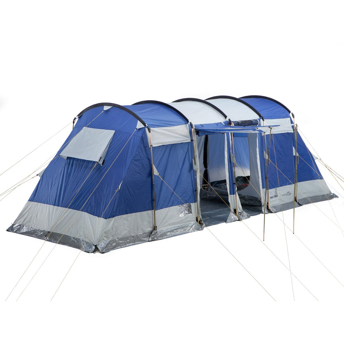 Skandika Montana Family Group Tunnel Tent with Sun Canopy 2 Sleeping Cabins 200 cm Peak Height 5000 mm Water Column Blue 6-Person Amazon.co.uk Sports ...  sc 1 st  Amazon UK & Skandika Montana Family Group Tunnel Tent with Sun Canopy 2 ...